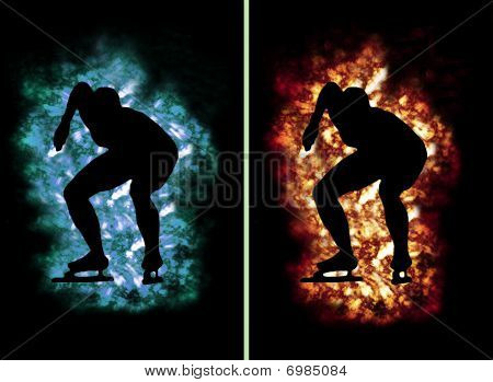 Ice Fire Speed Skater