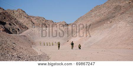 Israeli Soldiers On Shooting Ground