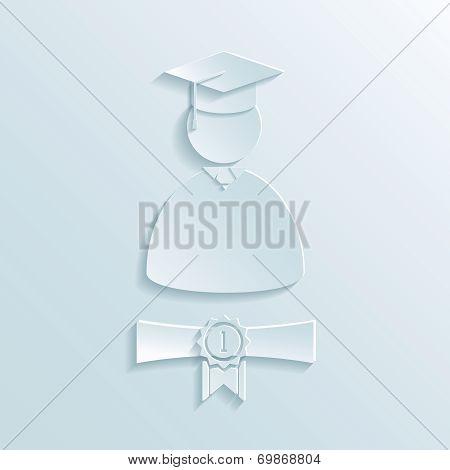 graduate student silhouette