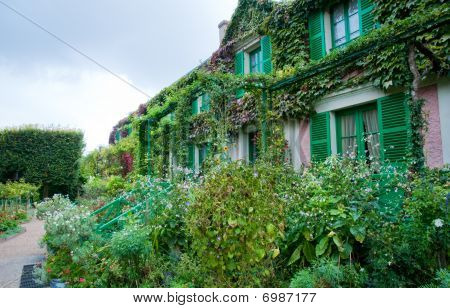 Claude Monet's garden and house in Giverny France poster