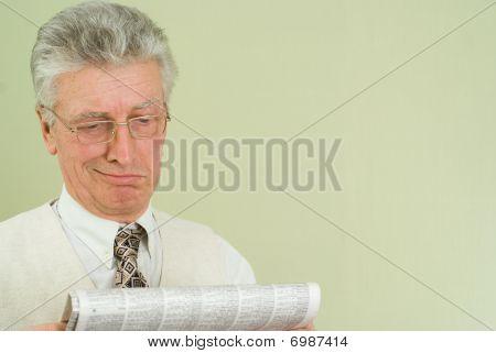 Handsome Businessman Read The Newspaper