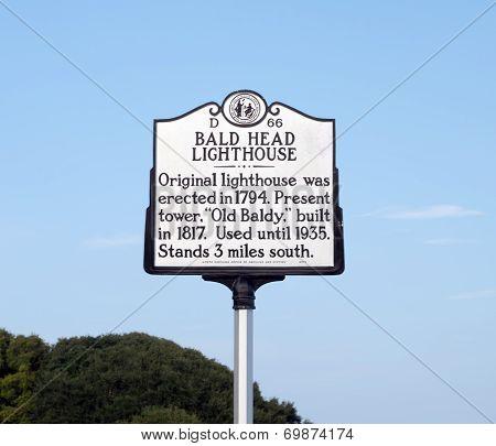 Bald Head Island Lighthouse Marker