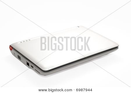 White Isolated Netbook