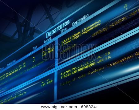 Transportation info board