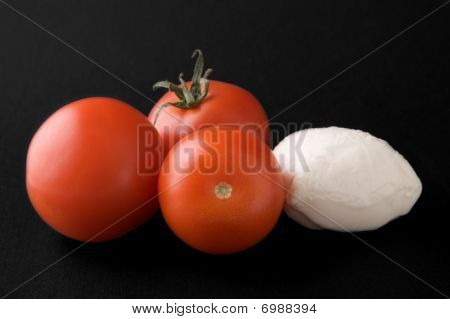 Tomatoes and Mozzarella Cheese