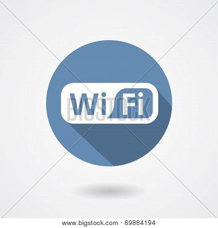 Wi-Fi icon isolated on white background