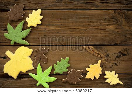 Autumn Background With Cookies