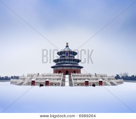 Qi Niandian Temple of Heaven Park, Beijing, China, the ancient Chinese emperors prayed a favorable p