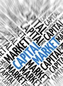 Marketing background - Capital Market - blur and focus poster