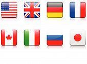 Original vector illustration: World flag series G8 countries poster