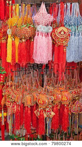 Traditional chinese souveniers on the street market
