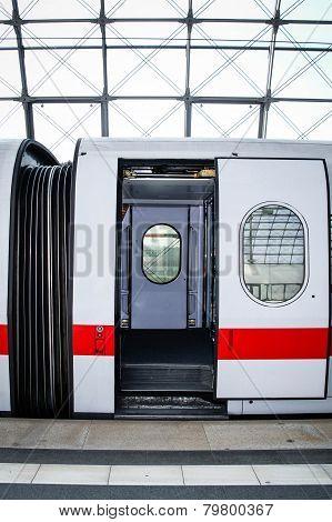 Modern highspeed train