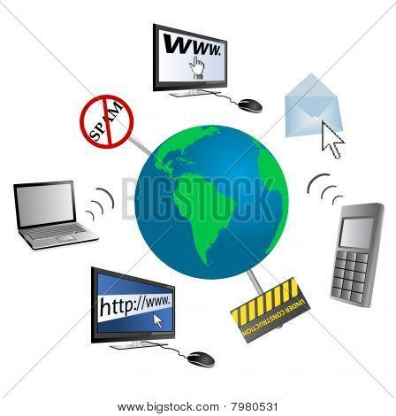 Conceptual illustration of global communication
