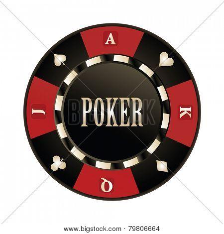Casino, Poker chip vector design