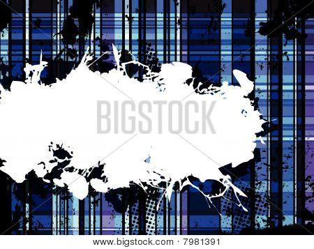 Checkered Blue Grunge Background.