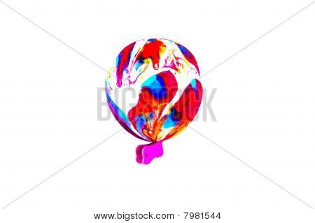 Bright Toyballoon And Clip