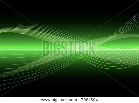 Abstract Clean Vector Wave Background.