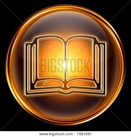 Book Icon Golden.
