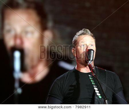 Frontman of american metal group Metallica James Hetfield
