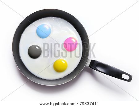 fried eggs CMYK