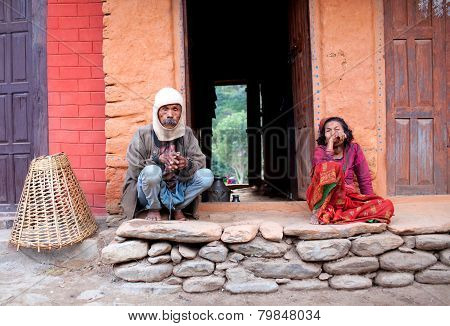 Man And Woman From Gorkha District, Nepal