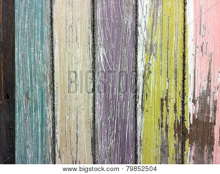 faded paint on barn wood