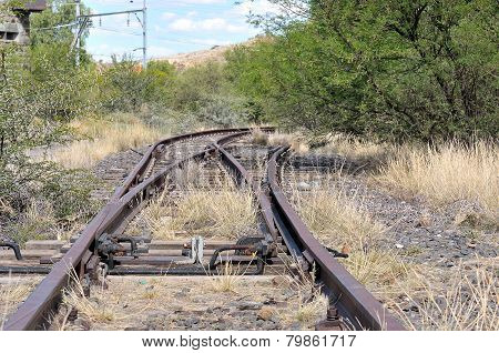 Unused Railroad Switch