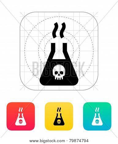 Dangerous substance icon. Vector illustration.