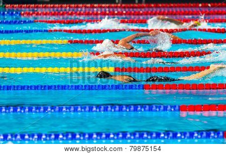 Women Swimming Race