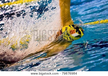 Milan - December  23:  M. Cofrani  (italy)  Performing In  Swimming Meeting Brema Cup On December  2