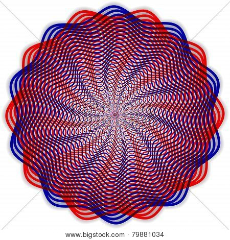 Vector abstract round guilloche pattern