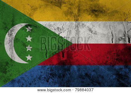 Grunge Comoros Flag