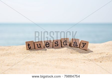Tuesday Word On Sea Beach