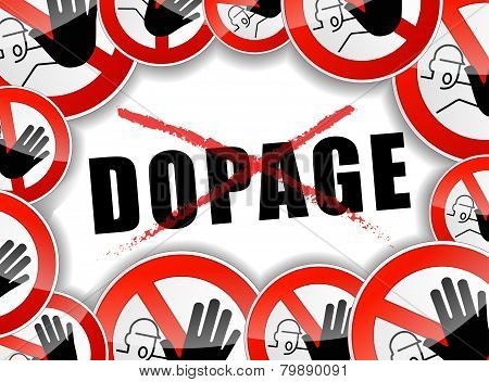 french translation for stop doping abstract illustration poster