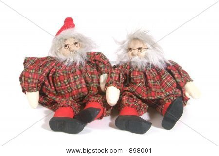 traditional christmas puppets isolated on white background poster