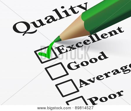 Excellent Quality Survey Checklist