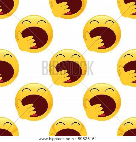 Yawning emoticon pattern