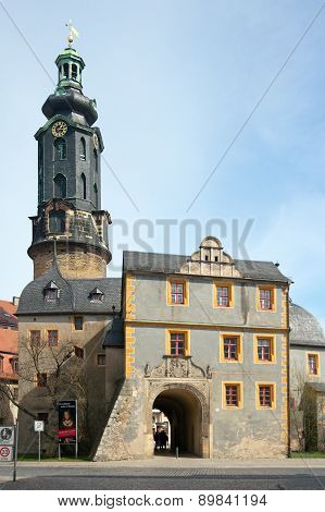 Weimar City Castle. Tower And Bastille, Germany