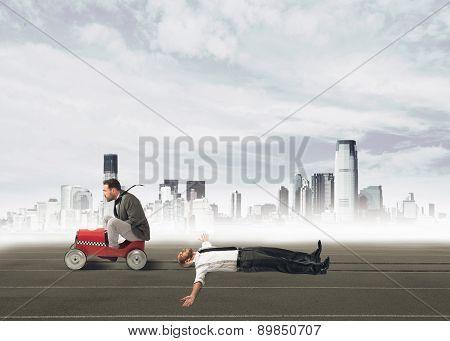 Ruthless businessman