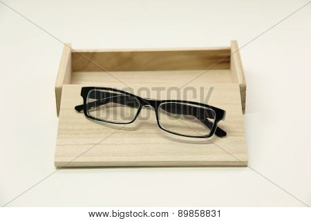 Fream Spectacles Eyeware On Wood Box