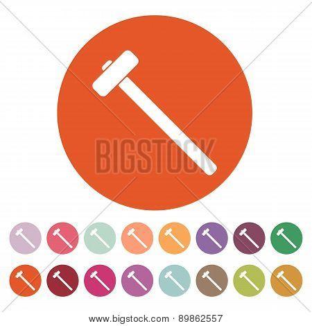 The Sledgehammer Icon. Sledgehammer Symbol.