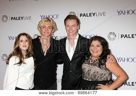 LOS ANGELES - MAY 3:  Laura Marano, Ross Lynch, Calum Worthy, Raini Rodriguez at the