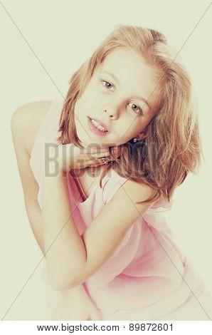 Litle girl posing