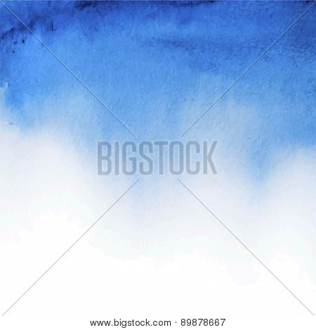 Blue Watercolor Background Wet