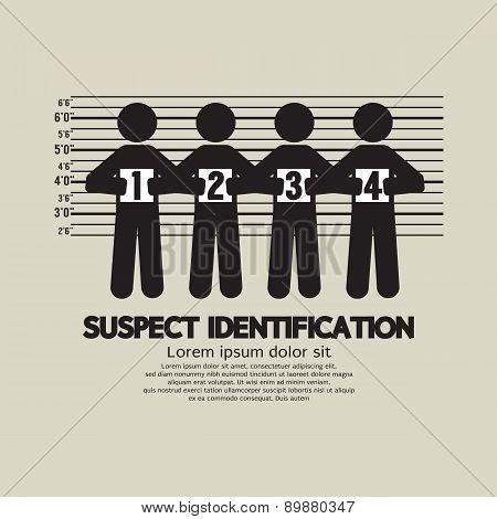 Suspect Identification Graphic Symbol.
