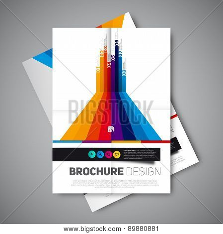 Modern infographics abstract brochure report for business or flyer design template Vector poster