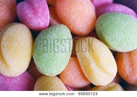Sweet candies, closeup