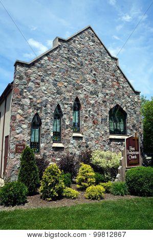 Wall of First Presbyterian Church