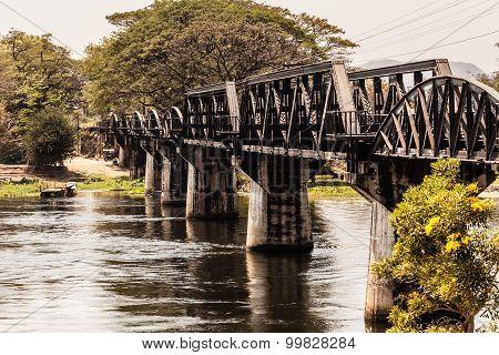 Famous Bridge On The River Kwai