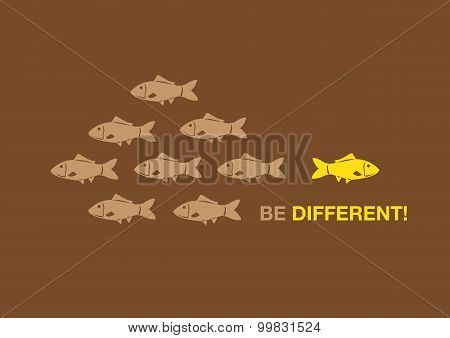 Be Different Creative Concept Vector Illustration